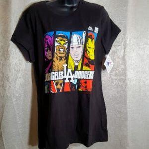 LA Dodgers Sz XL T-shirt NWT Marvel Super HeroesNWT, used for sale